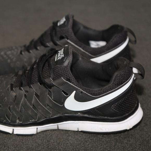 Nike Free Runner Trainer 5.0 Black White Mens New